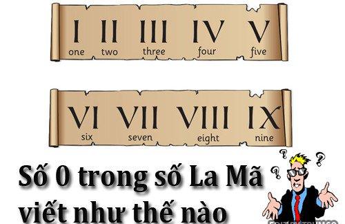 Số 0 trong hệ chữ số La Mã viết như thế nào? - post